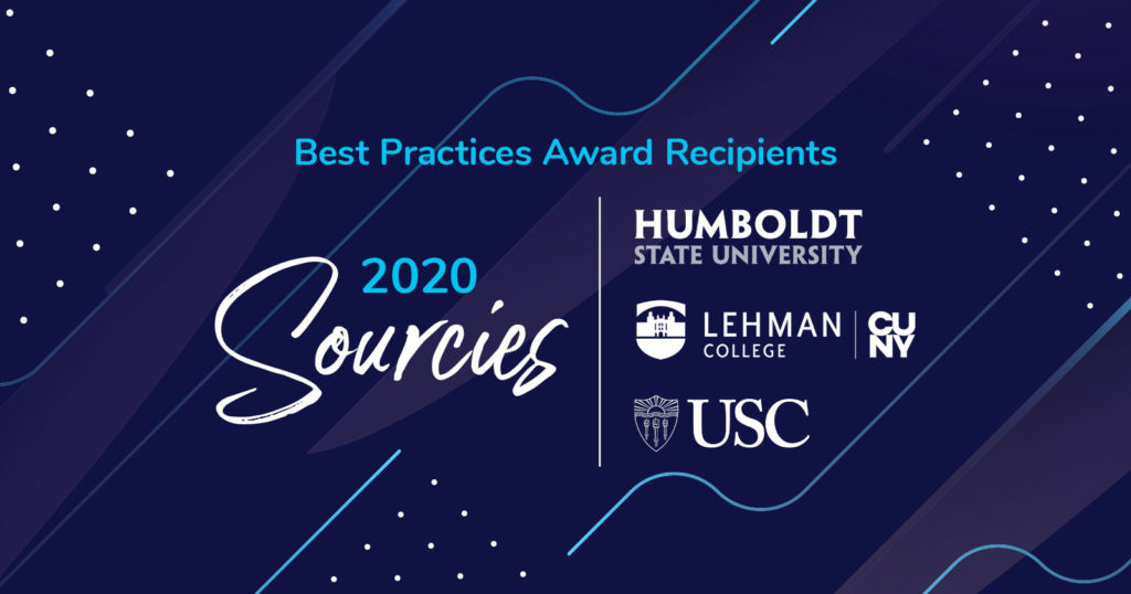 2020 CollegeSource Best Practices Sourcies Awards